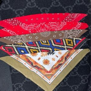 Set of 5 vintage handkerchief